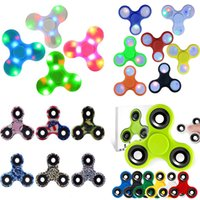 Wholesale Bluetooth Hand Fidget Spinner Led Cube Music Finger EDC Spinners Tri SpinnerToy For Decompression Plastic Toys in Stock Fidget Spinners