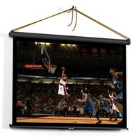 Wholesale US Stock inch HD Projection Screen Manual Pull Up Folding Tabletop Projecting Screen Aspect Ratio Portable Projection Screen for DLP