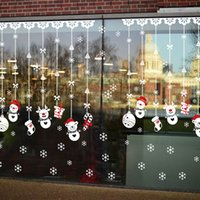 Wholesale 2017 Merry Christmas The snowman is hanged adorn lovely light snow wall stick glass window of the bedroom mobile convenient decorative stic