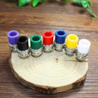 Wholesale Hottest free samples TFV8 Epoxy Resin material drip tip Colorful interface Wide Bore Mouthpiece Vaporizer Jade agate handicrafts