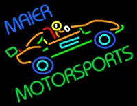 art kart - Maier Motorspots Go Kart Neon Sign Handmade Custom Advertisement Real Glass Tube Sport Bar Game Racing Art Club Display Neon Signs quot X20 quot