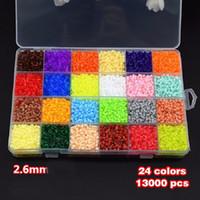 Wholesale 13000Pcs Box Set Hama Beads MM Perler Beads Colors DIY Creative Puzzles Tangram Jigsaw Board Baby Kid Educational Toys