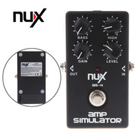 Wholesale NUX AS Amplifier Simulator Effect Violao Guitar Electric Effect Pedal True Bypass Black Musical Instrument Parts Electronic