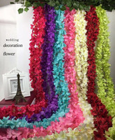 Wholesale 200cm silk flower vine wedding party decorative crafts Multicolor artificial flowers Wedding Decoration Flower Vine