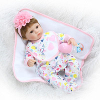 baby bouquet gifts - 43cm Silicone Reborn Baby Doll kids Playmate Gift For Girls Inch Baby Alive Soft Toys For Bouquets Doll Bebe Reborn
