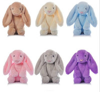 Wholesale NEW cm Bunny Stuffed Rabbit Cut Plush Soft Toys Promotional Bunny Doll Rabbit Plush Toy With Long Ears Appease Rabbit