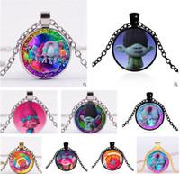 best chain for pendant - Poppy Trolls Necklaces DreamWorks Glass Jewlery Body Chain Movie Cartoon Jewelry Design Trolls Pendant Necklaces for Best Xmas Gift