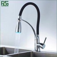 flg black and chrome finish kitchen sink faucet deck mount pull out dual sprayer nozzle hot cold mixer water taps 100306ba - Kitchen Sink Nozzle