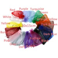 Wholesale 10pcs bag Selection Colors Jewelry bag x15cm organza jewelry packaging display amp Jewelry Pouches