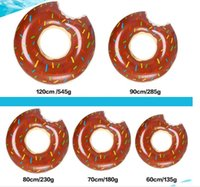 baby sports toys - outdoor water sports inflatable floats tubes kids Donut Swimming ring summer swim pool rings for baby water floating riding toy