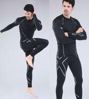 Wholesale Men s Spot Hot Men s Suit Shirt XU Women s Compression Trousers All sizes Black Silver Jogger Sports New Running Pants