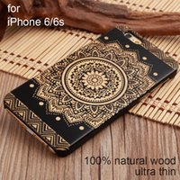 Wholesale Hard case wood For iphone SE S S s PLUS PLUS phone Mobile Phone Case Wooden case cover