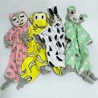 40 * 45cm Tétines Serviette Babies Bébé Jouets Poupée Ins Style 4 Lapin Cat Bear Monkeys Cartoon Cartoon Doll