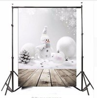 Wholesale 3x5ft Photography Vinyl Background Christmas Theme Snowman Photographic Backdrops For Studio Photo Props m x m