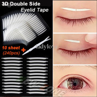 Wholesale Unique Sharp angled D Double Sided Invisible Eyelid Tape Strong Adhesive Eyelid Stickers gift tool sheet
