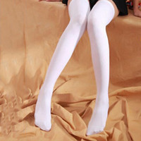 Wholesale Tinted Sheer False High Stockings Sexy Socks Women s Over Knee Girl Lady Black White Pantyhose Tights Socks