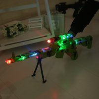 Wholesale Infrared electric gun voice vibration sniper military toys factory direct selling children square