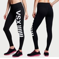 Wholesale VS LOVE PINK Fashion Women s Girl s skinny Running Yoga Gym Sports joggers Leggings Pants Elastic Trousers high waist Fitness Wear quick dry