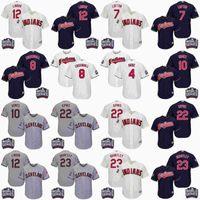 Wholesale Youth Cleveland Indians Francisco Lindor Jason Kipnis Brantley World Series Patch Jersey