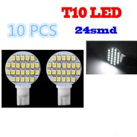 T10 Instrument Light The near light 10x Super Bright White 12V 24 SMD T10 921 194 RV Trailer Interior LED Light Bulbs 6000K CLT_03K