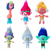 Wholesale The Newest Movie Trolls Doll Plush Toy Poppy Branch Dream Works Stuffed Cartoon Dolls The Good Luck Trolls Christmas Gifts For Children