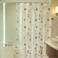 Wholesale New Arrival High QualBathroom Shower Curtains Waterproof PEVA Mildew Proof Shower Curtain