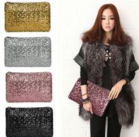 Wholesale sparkling clutch bags evening bag Fashion Dazzling Glitter Bling Sequins women Evening Party purse Bag Handbag for Women X19CM LLFA