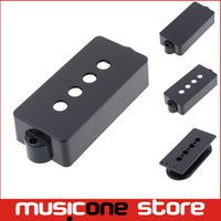 bass guitar makers - 2Pcs Black Openned closed Type String PB Bass Guitar Pickup Cover guitar pickup bobbin For Pickup Makers