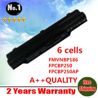 Wholesale New cells laptop Battery For FUJITSU LifeBook A530 A531 AH530 AH531 BH531 LH520 FMVNBP186 FPCBP250 FPCBP250AP