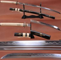 Wholesale 41 quot FOLDED STEEL CLAY TEMPERED SHARP JAPANESE SWORD KATANA UNOKUBI ZUKURI BLADE