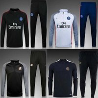 Wholesale best quality Paris soccer jerseys uniforms sportswear Men Training suit football Tracksuits jackets