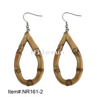 Wholesale fashion water drop bamboo earrings