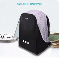 Wholesale Laptop backpack Anti theft backpack with USB charging port Laptop Bag quot rain proof theft proof Daypack rucksack