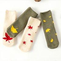 baby gifts spandex - Kids socks Winter warm terry socks children Baby maple leaf fashion boys girls cotton spandex socks gifts year year DHL