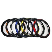 Wholesale Car Steering Wheel Cover Microfiber Leatheranti skid Breathable Blue Red Yellow Beige Different colors are differeCar Accessories more color