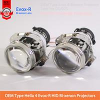 al por mayor faros proyectores de xenón bi-2Pcs OEM Evox-R Bi-xenón Proyector Lente Hella 4 D2S D2H D4S bombilla de xenón original instalar AUDI A6L Nacional Xenon lente faro