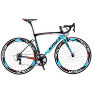 Wholesale SAVA C Carbon Fibre Road Bike Complete Bicycle Carbon Cycling BICICLETTA Road Bike SHIMANO Speed Bicicleta with Double V Brake