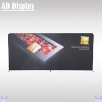Wholesale 16 ft ft High Quality Exhibition Events Tension Fabric Printed Banner With Aluminum Stand Trade Show Premium Advertising Display Equipment