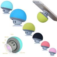 Wholesale A Mini Bluetooth Speaker Outdoor Speakers Handfree Stereo Portable Speakers Wireless Creative Subwoofer Audio New Sucker Mushroom Head