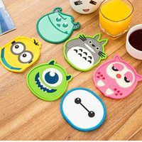 Wholesale Funny Design Lovely PVC Cartoon coffee cups Mats Pads heat resistant Dining table placemats coaster