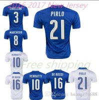 Wholesale 2016 PIRLO Italian Top quality football jersey Verratti MARCHISIO Shaarawy pullover national football shirt