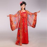 Wholesale Q228 Children Chinese Traditional Costume Girl Princess Royal Dance Dress Ancient Tang Dynasty Costume Kids Hanfu National Costume