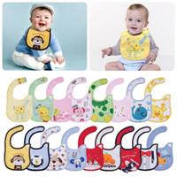 apron pattern child - Different Cartoon Patterns Animal pc Cute cotton waterproof Baby Boys Girls Kids Children Bibs Saliva Apron