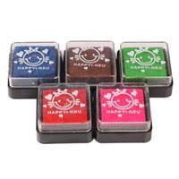 Wholesale 5 in Multi Coloured Washable Foam Ink Ink Pad Stamp Pad Set