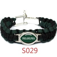 american football eagles - 32 team Umbrella rope bracelet Philadelphia eagles football team Bracelets Lifesaving bracelet