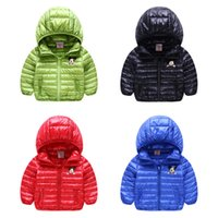 Wholesale Kids clothing Down jacket Minnie Down hooded coat Solid light weight Boys girl down wear Warm winter children clothing DHL
