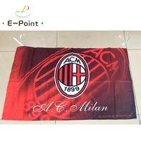 ac banner - Italy AC Milan cm size Polyester Serie A flag Banner decoration flying home garden flag Festive gifts