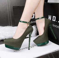 Women black diamond dress shoes - 219 European station with high heeled waterproof nightclubs single shoes sexy word with pointed fine with diamond shoes