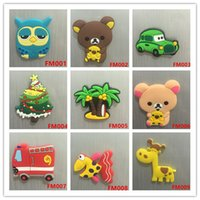 Wholesale PVC Cartoon Animal fridge magnets Refrigerator Magnets Kids gifts Home Decoration