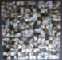 Wholesale Natural blacklip Seashell Mosaic Tiles Mini Square Seashell MOP Backsplash